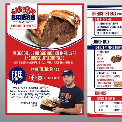 Long Term Designer for our Pies and Sandwich Shop - Leaflet