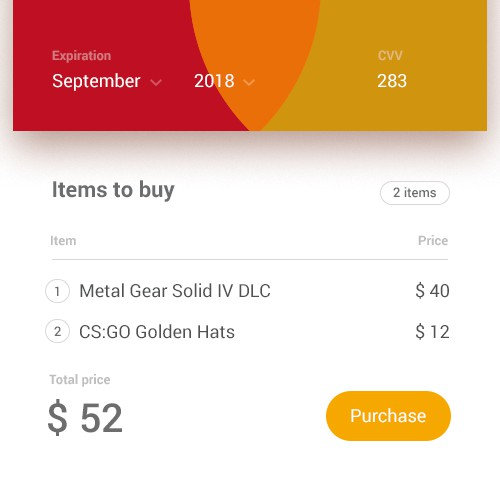 Payment page concept