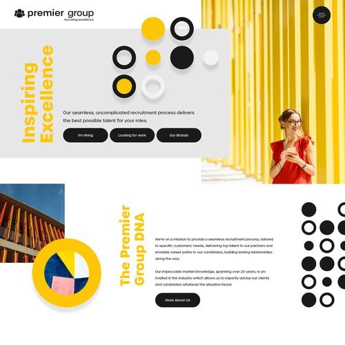 Recruitment - Landing Page design