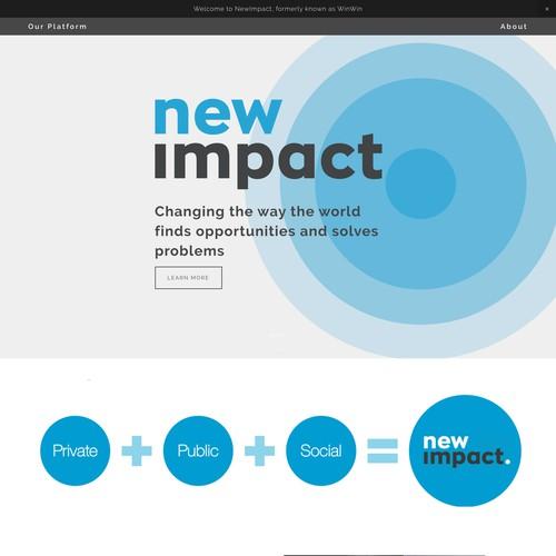 Non-Profit Rebrand - NewImpact