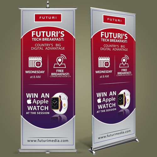 Stand-up banner