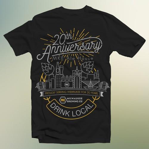 anniversary brew house tshirt