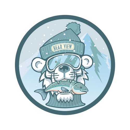 Icy polar bear patch