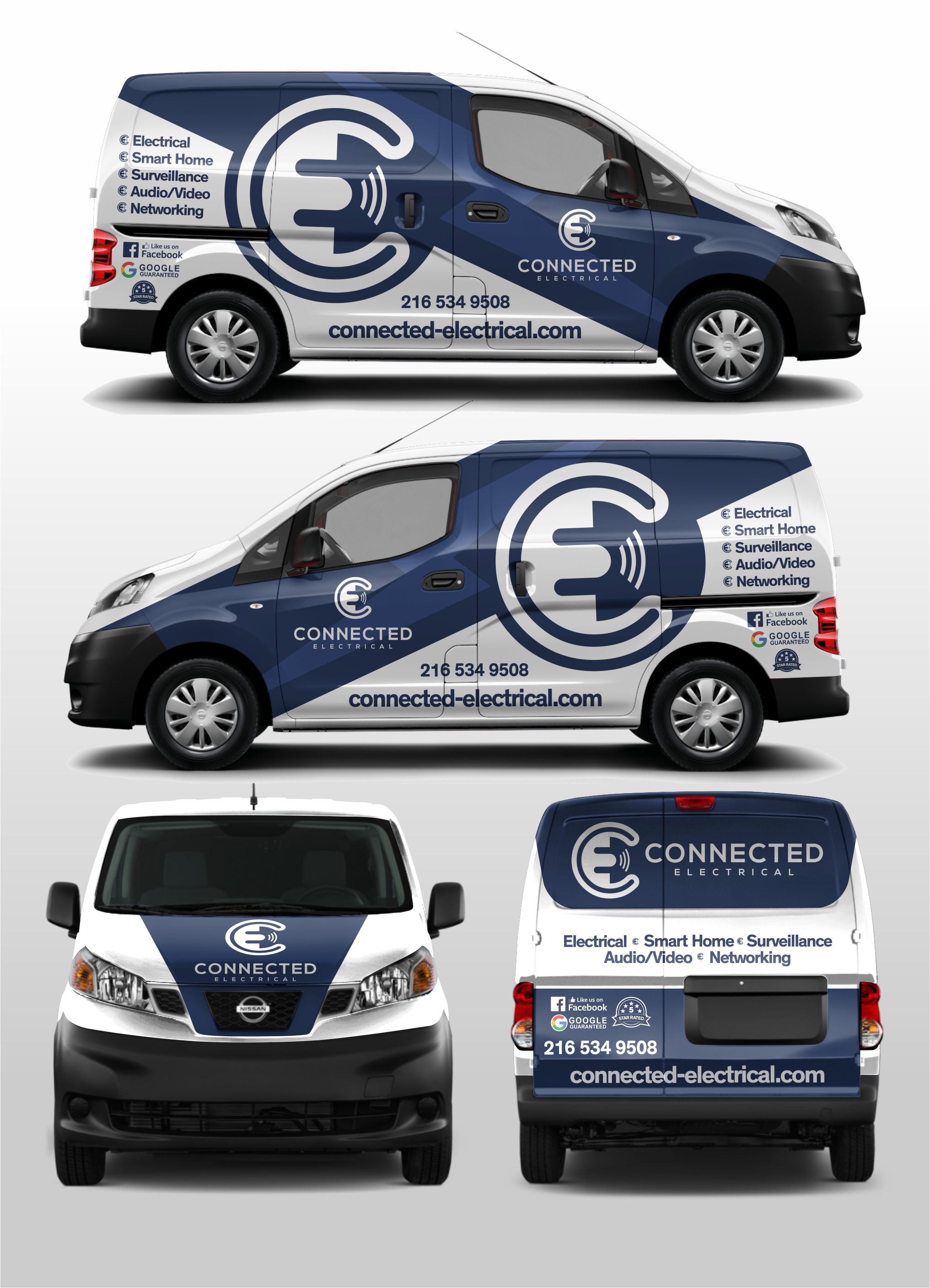 Van Wrap for an Upscale Electrical & Smart Home Company