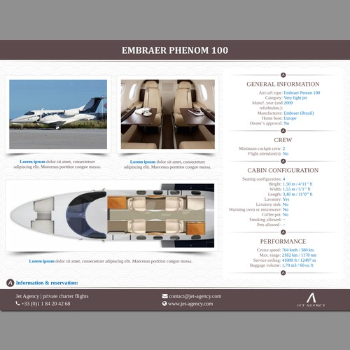Word Template for Private Jets Presentation