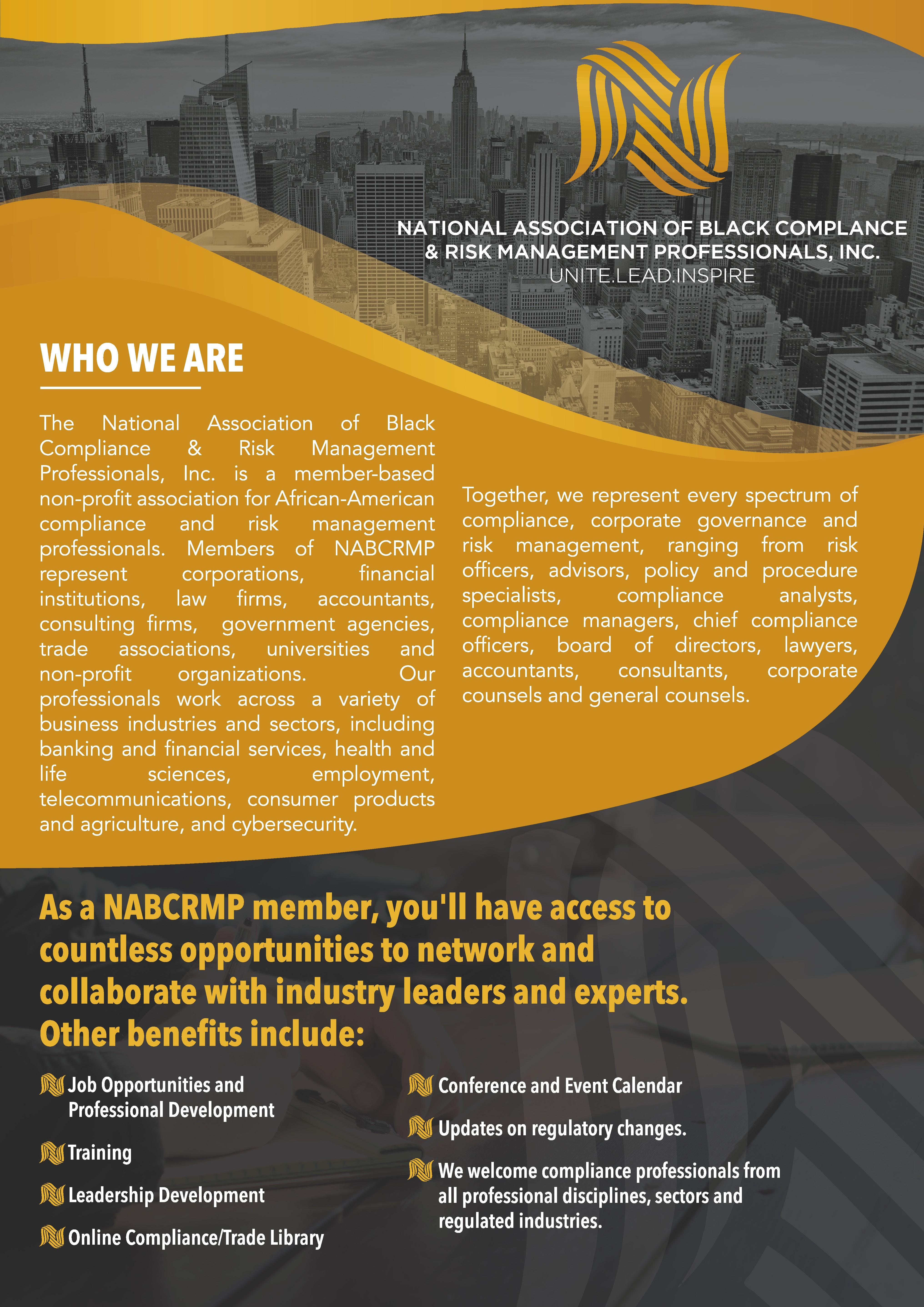Flyer for National Organization