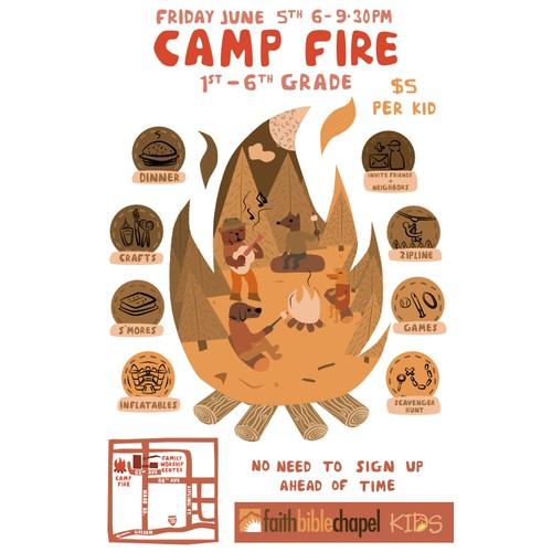 Poster For a Kids Campfire Event