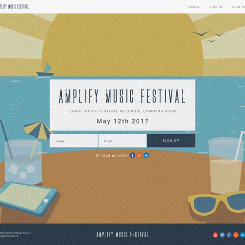 Musical festival landing page
