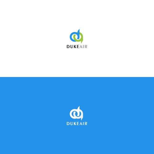 Bold logo for duke air logo
