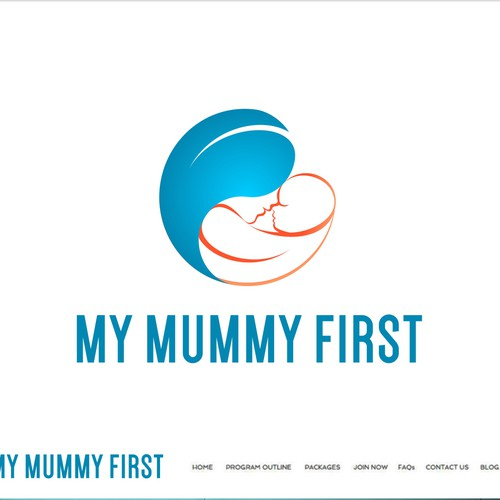 Bold logo design for fitness program focused on mothers