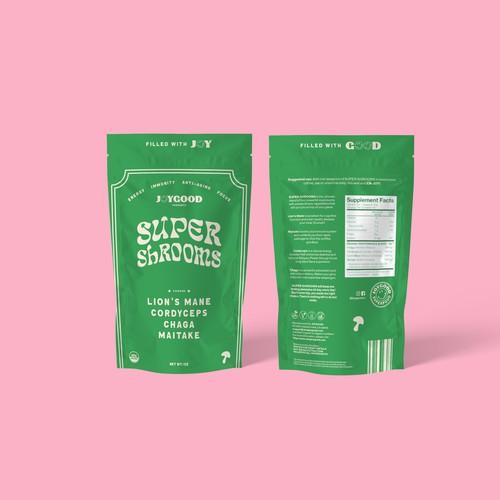 Super Shrooms Packaging Design