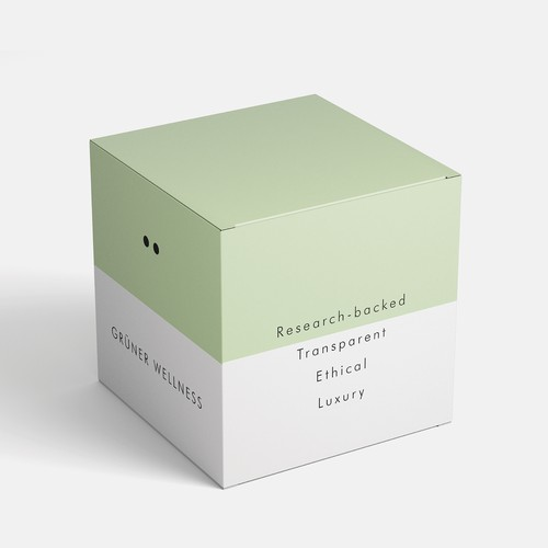 Grüner Skincare brand identity and packaging