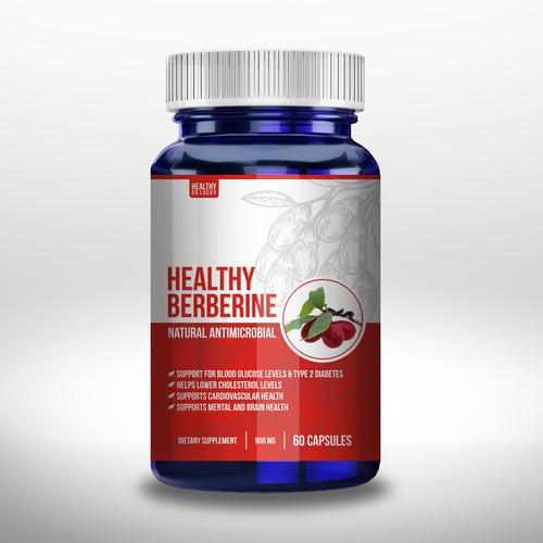Healthz Berberinde label design
