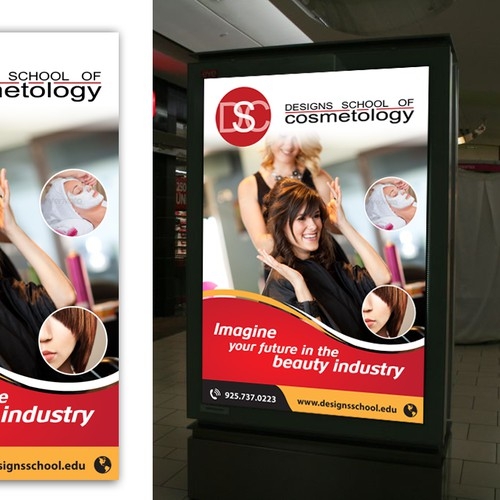 Create 2 advertising banners/posters for in mall advertising kiosks