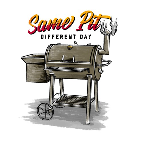 T-Shirt designs for a barbecue themed clothing brand