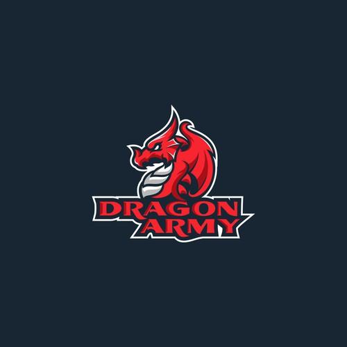 red dragon esport logo for dragon army league of legend esport pro team