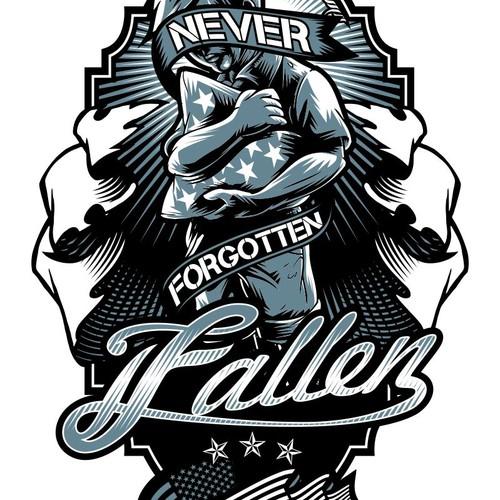 Fallen Never Forgotten needs a new logo