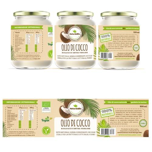 Label Olio di cocco