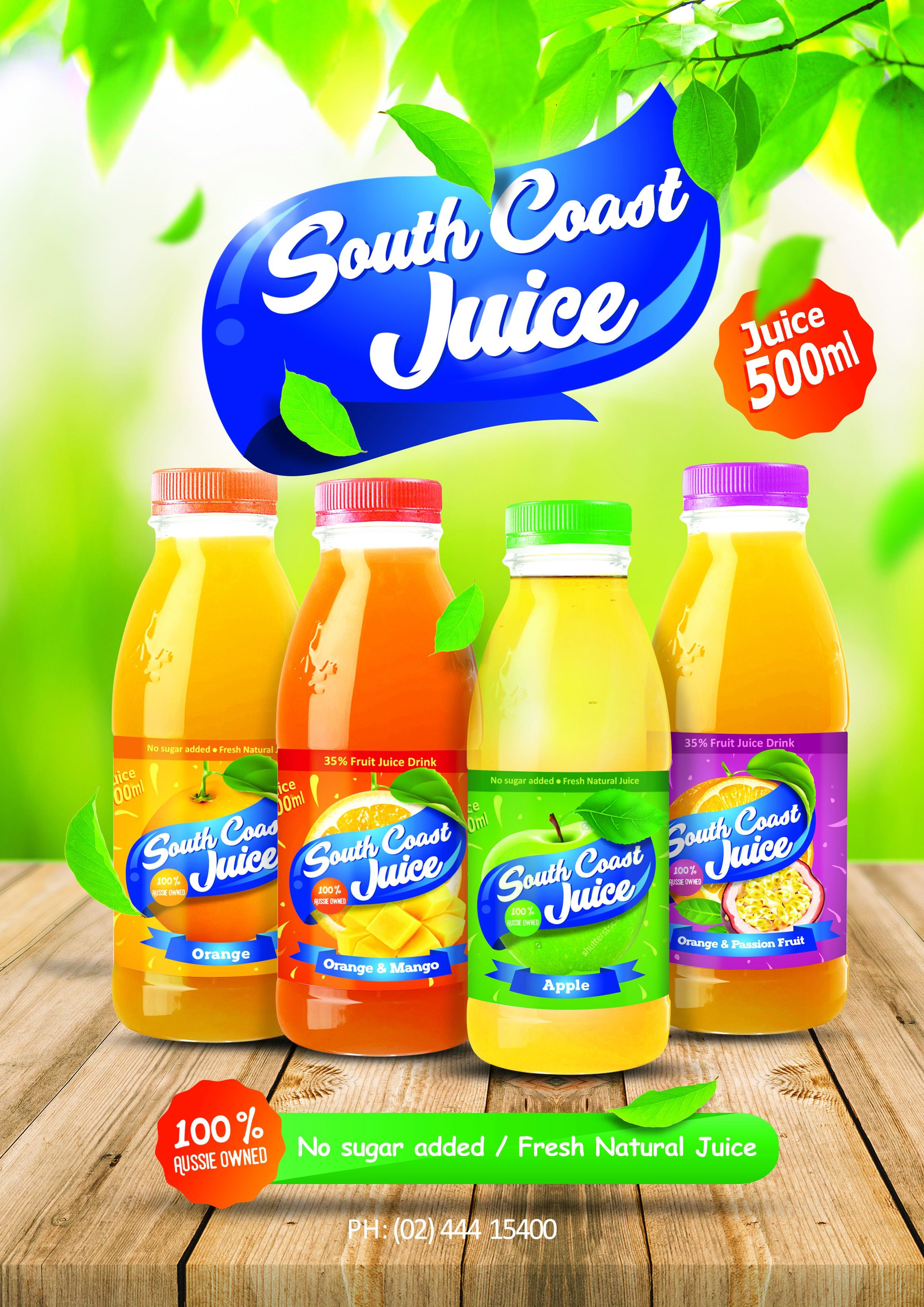 south coast juice posters