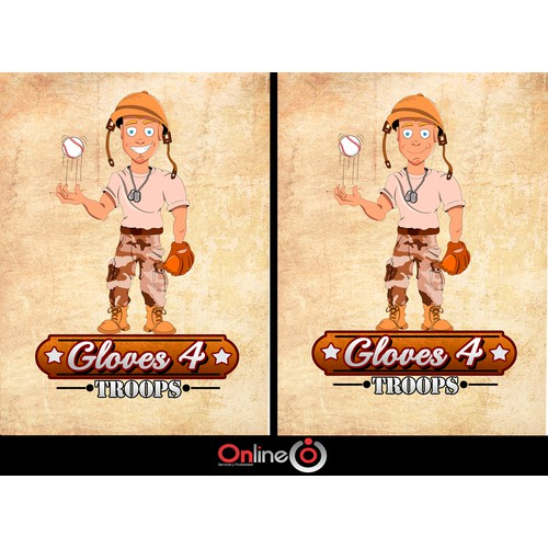 Gloves 4 Troops Character/Logo Design