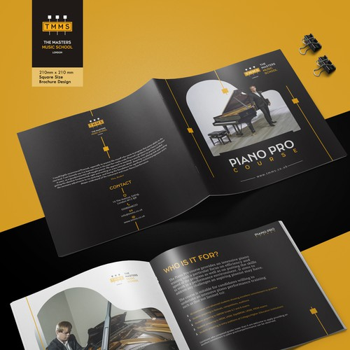 booklet design for a premium piano course