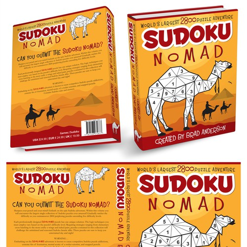 Book cover design for SUDOKU NOMAD
