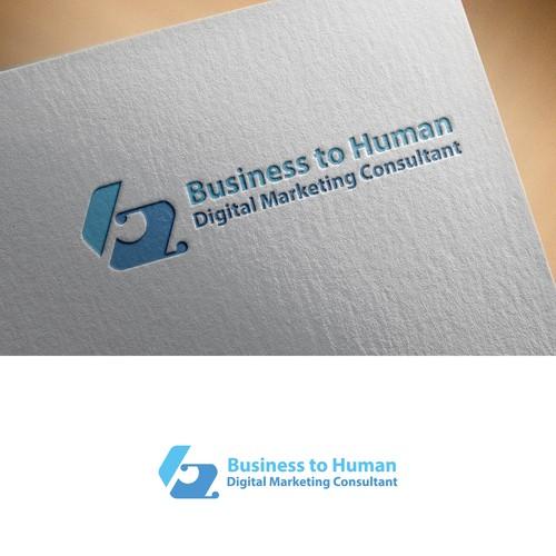 Business to Human logo design