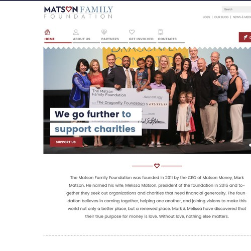 Charity website for The Matson Family Foundation