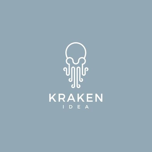 Bold logo concept for Kraken Idea