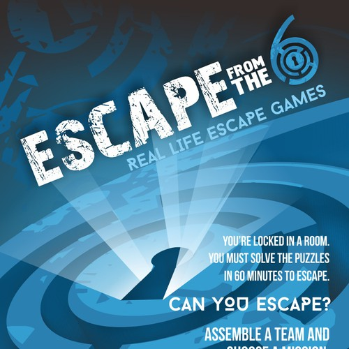 Create a Eye seducing flyer/poster/print ad for an Escape game