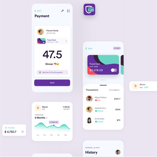 Wallet App - iOS & Android