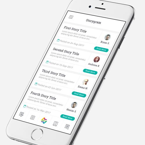 App Design for Storygram