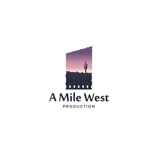 A mile west logo concept.