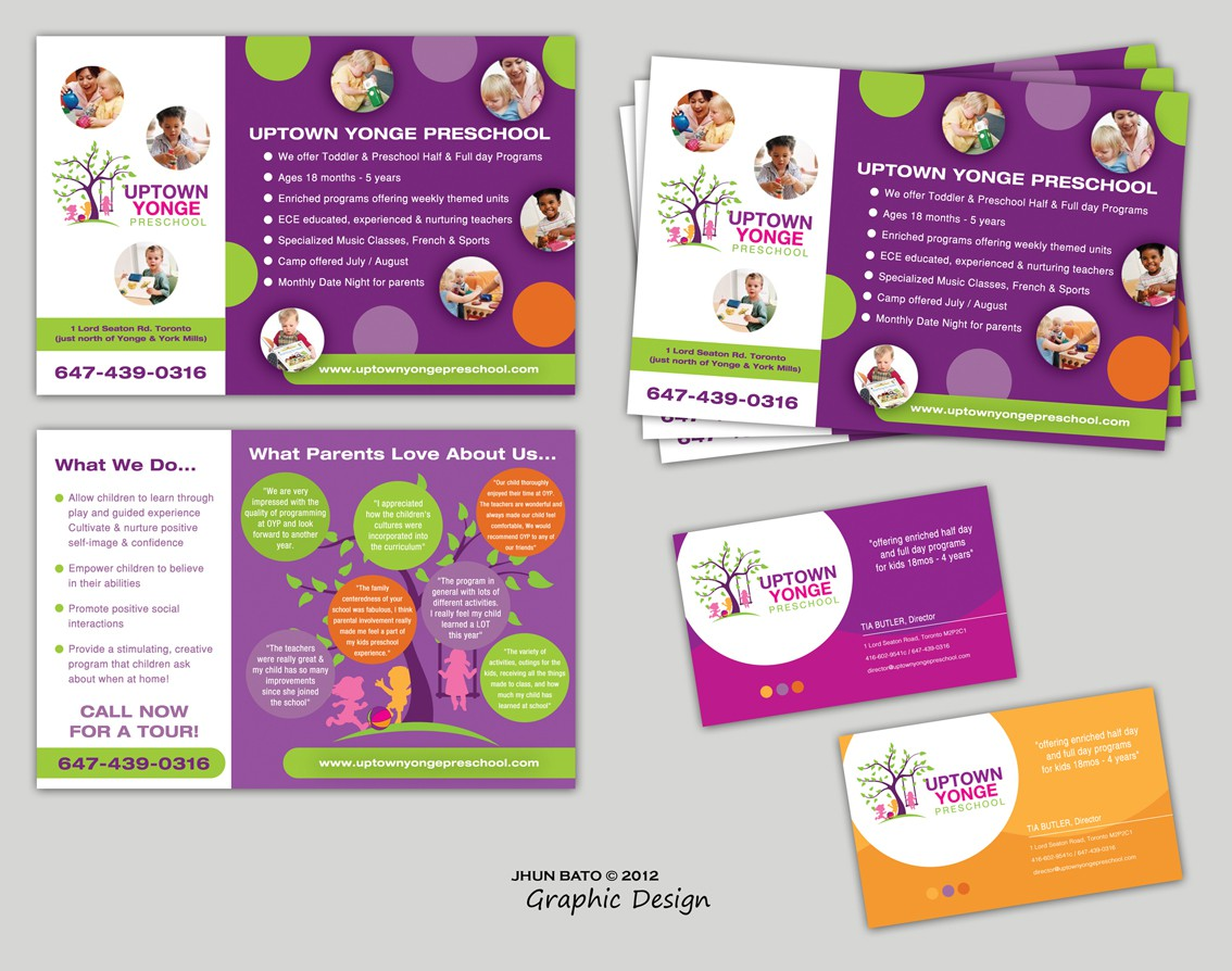 postcard or flyer for Uptown Yonge Prechool