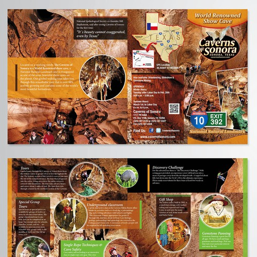 Brochure design for Caverns of Sonora