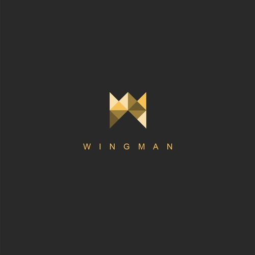 Simple clean logo for Wingman