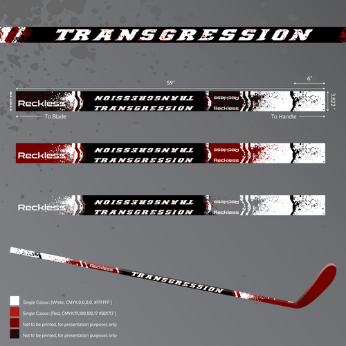 "Reckless Hockey's ""Transgression"" Stick Graphics"