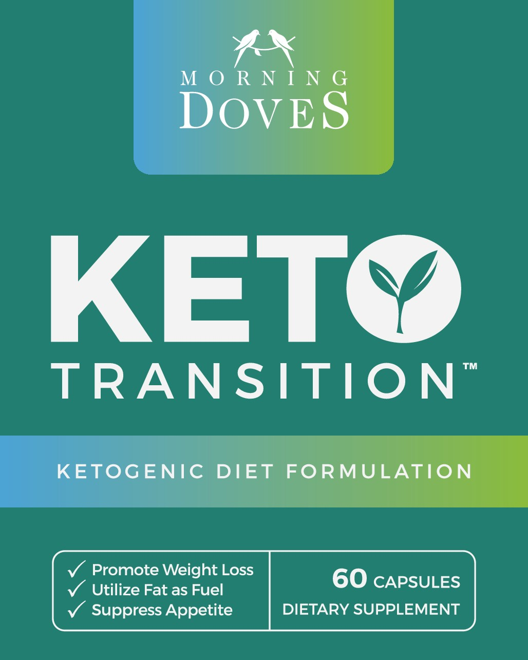 Design a creative KETO Bottle Label for Morning Doves!