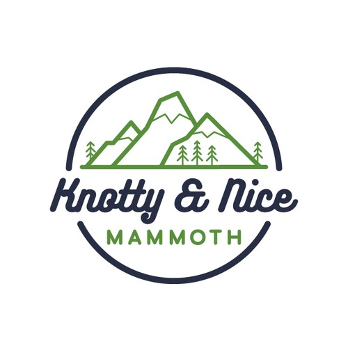 Mountain logo design for a vacation rental property