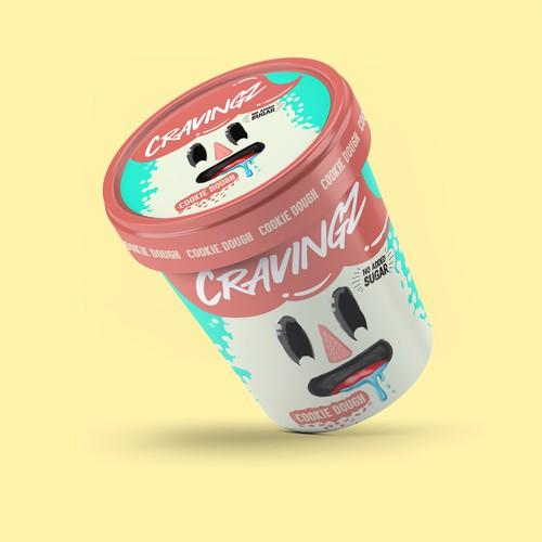 Ice cream pint design