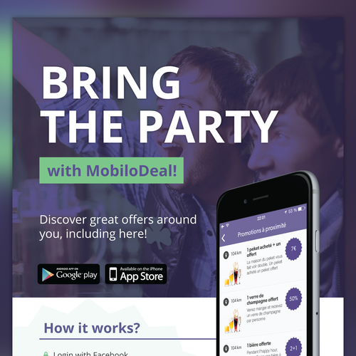 Bold and clean design for MobiloDeal