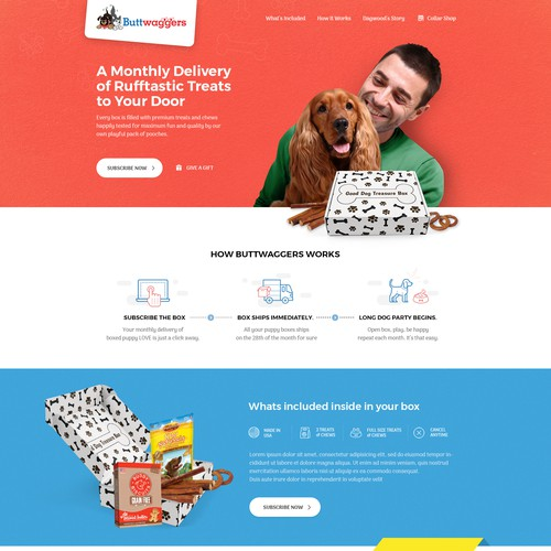 Pets food subscription business