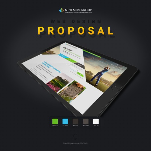Ninemire Group Homepage Design