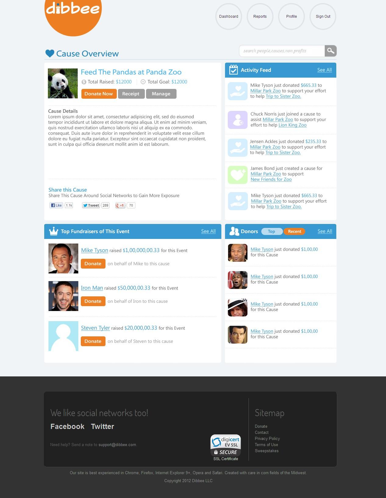 Redesign website for Dibbee