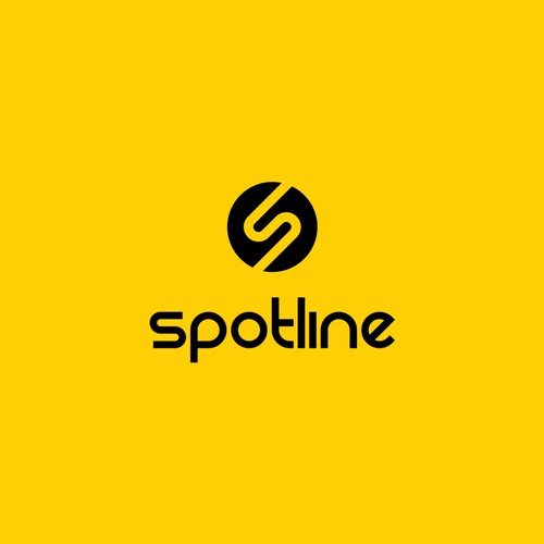 modern,simple logo for ''Spotline''