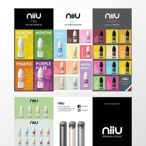 Menu Trifold Flyer for E-cigarette