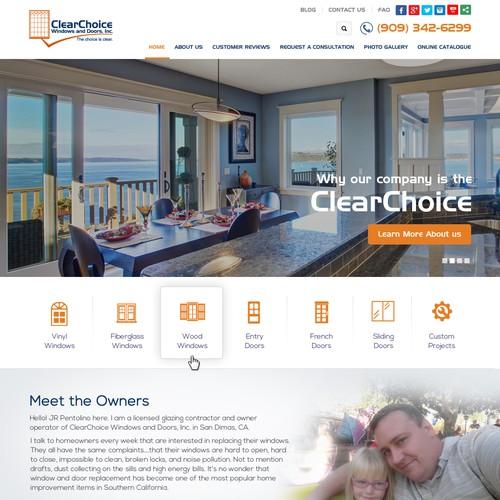 A fresh, clean, cutting-edge website design
