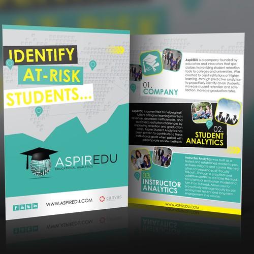 AspirEDU needs a new postcard or flyer