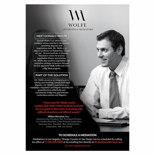 Donald wolfe flyer
