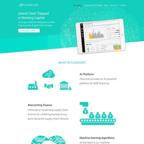 Web design concept for Flowcast